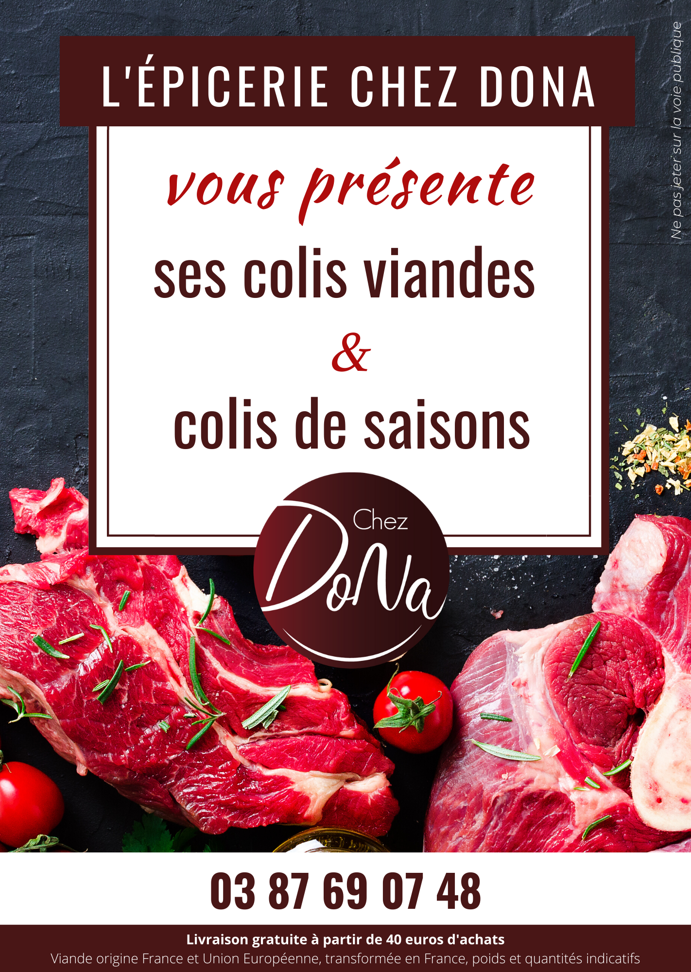 épicerie chez dona - colis viandes et de saisons