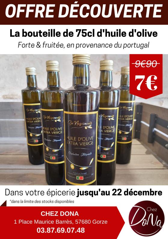 flyer huile olive épicerie chez dona